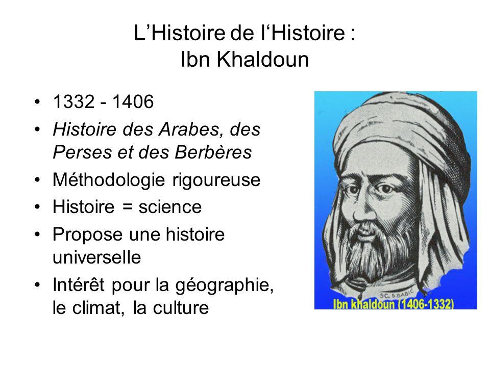 L'Histoire de l'Histoire : Ibn Khaldoun