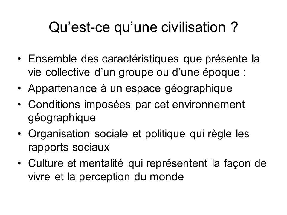 Qu'est-ce qu'une civilisation