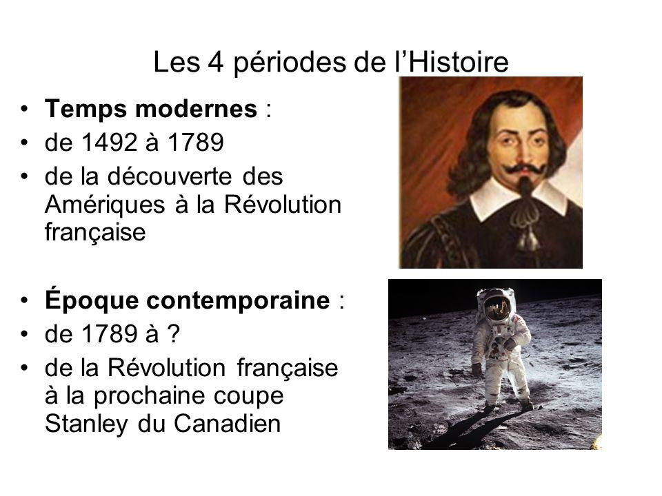Les 4 périodes de l'Histoire