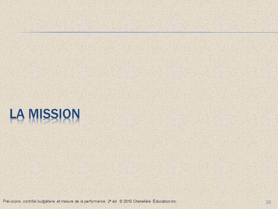 La mission Prévisions, contrôle budgétaire et mesure de la performance, 2e éd.