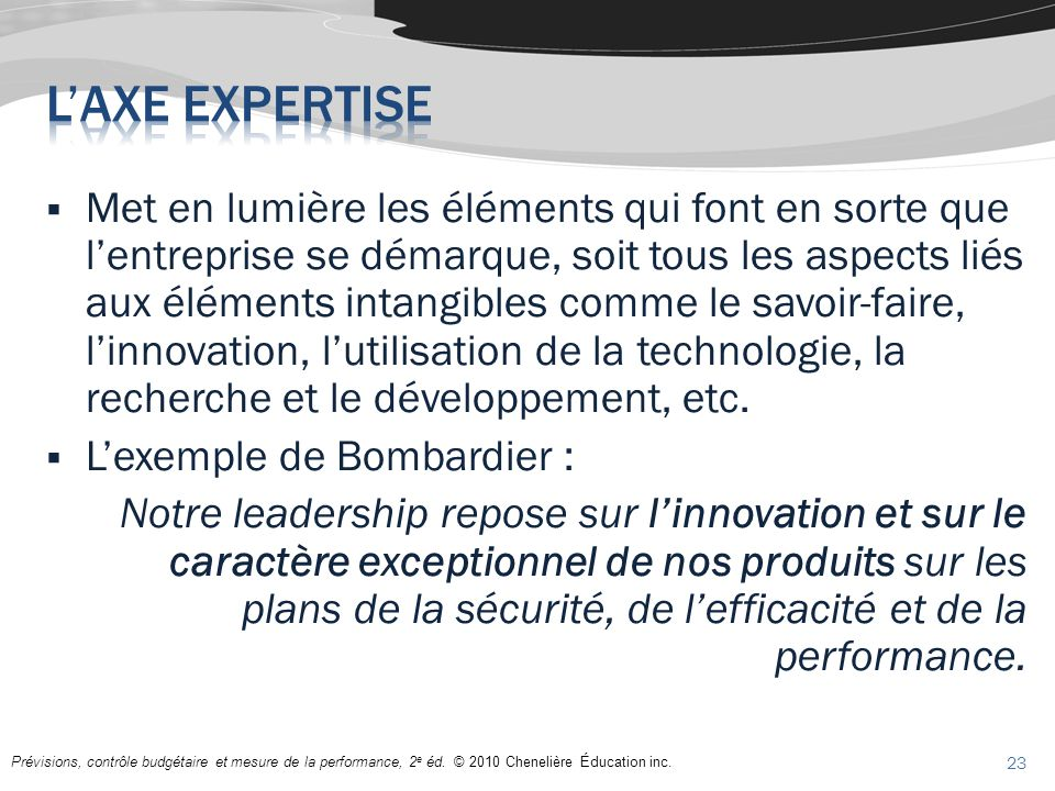 L'axe expertise
