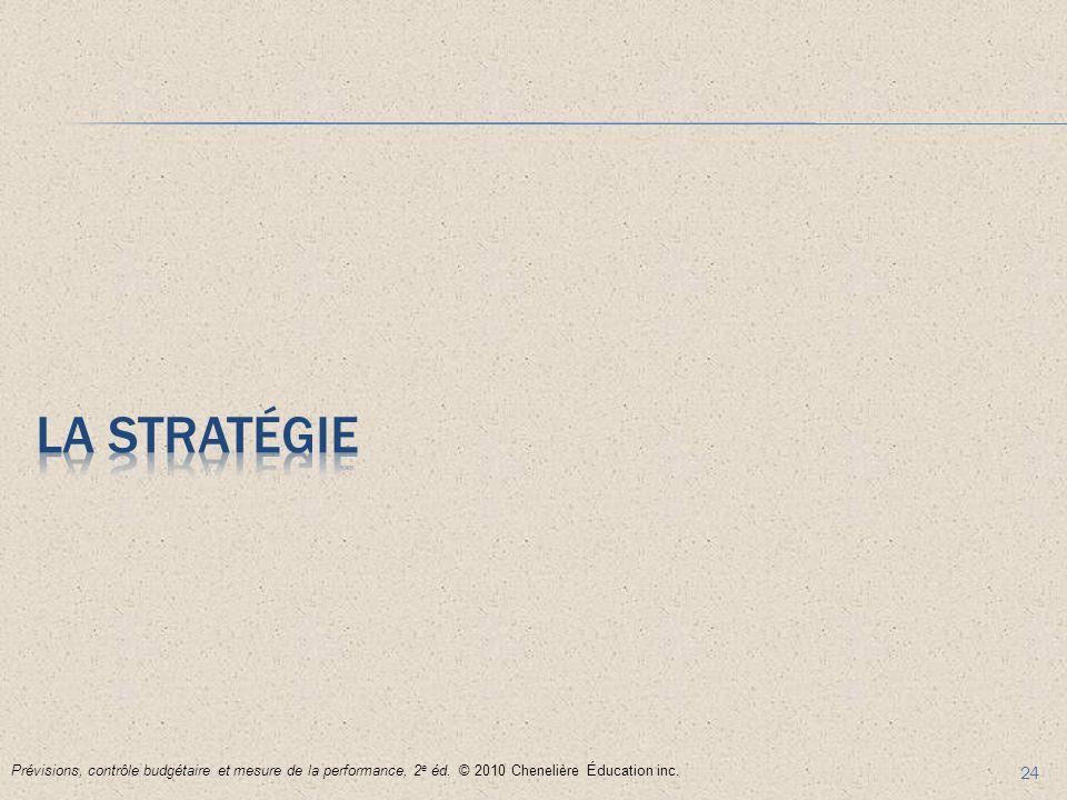 La stratégie Prévisions, contrôle budgétaire et mesure de la performance, 2e éd.