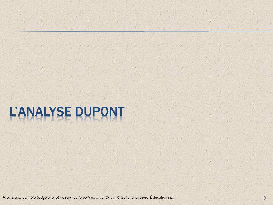 L'analyse Dupont Prévisions, contrôle budgétaire et mesure de la performance, 2e éd.