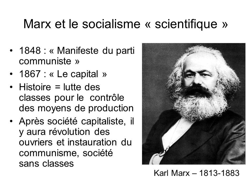 Marx et le socialisme « scientifique »