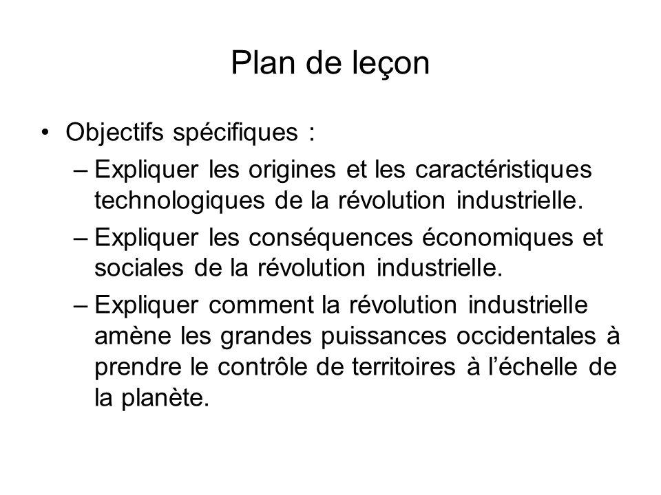 Plan de leçon Objectifs spécifiques :