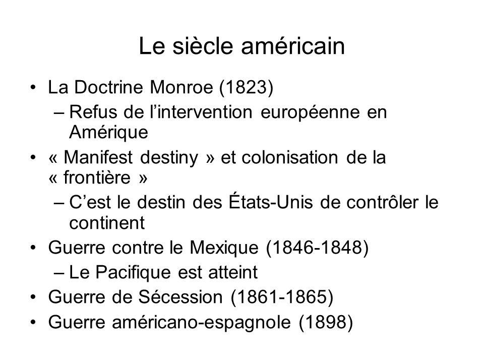 Le siècle américain La Doctrine Monroe (1823)
