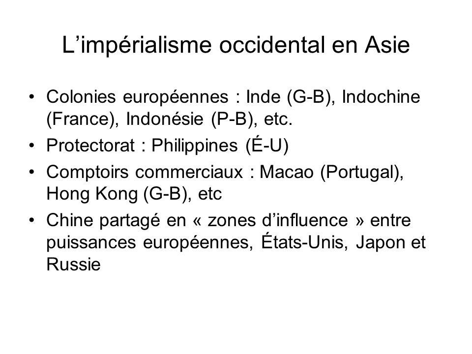 L'impérialisme occidental en Asie