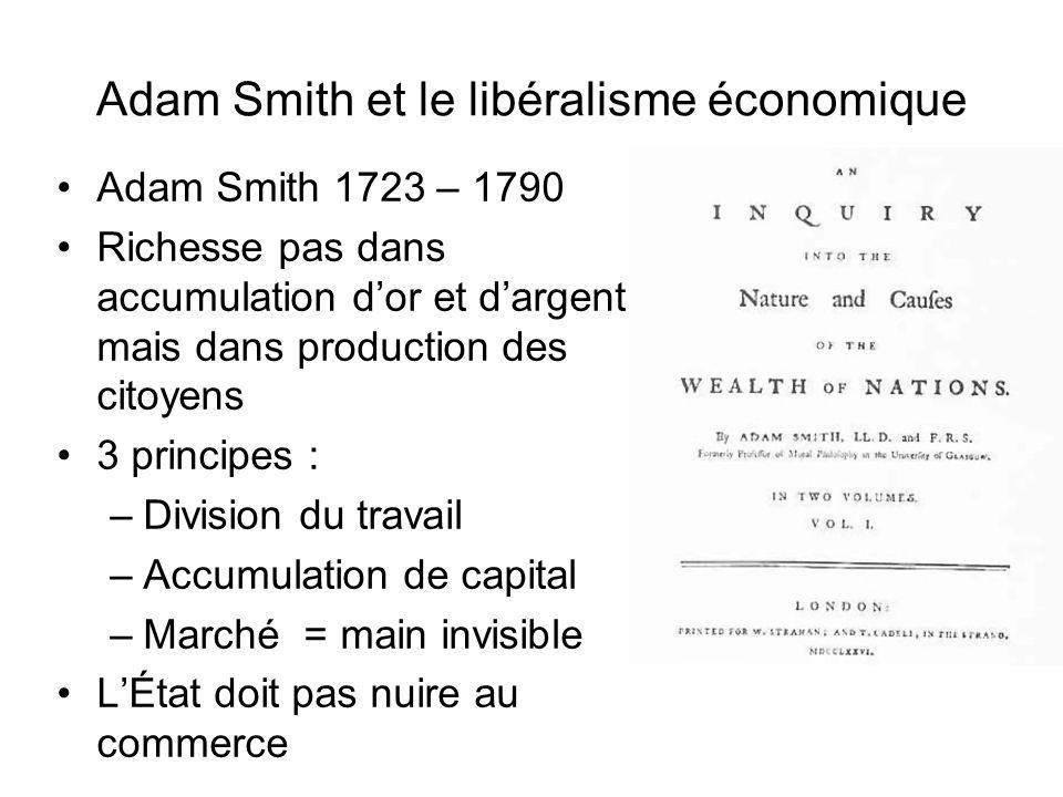 Adam Smith et le libéralisme économique