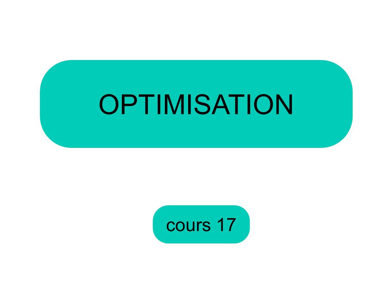 OPTIMISATION cours 17