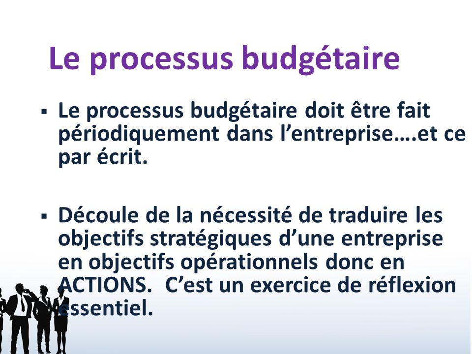 Le processus budg taire des entreprises de service et des for Creer une entreprise de service aux entreprises