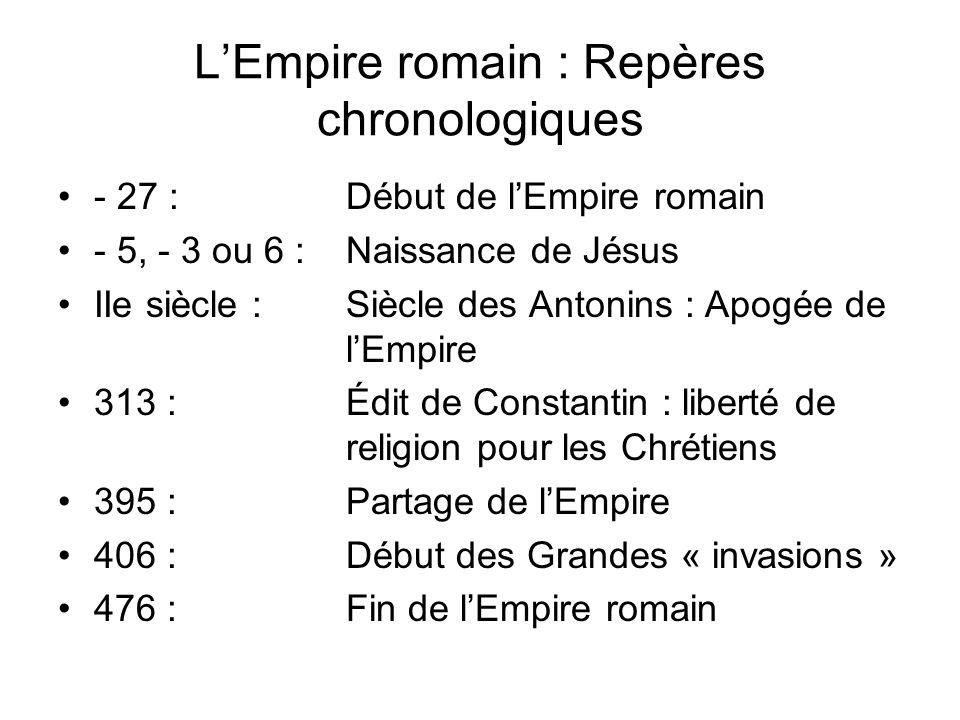 L'Empire romain : Repères chronologiques