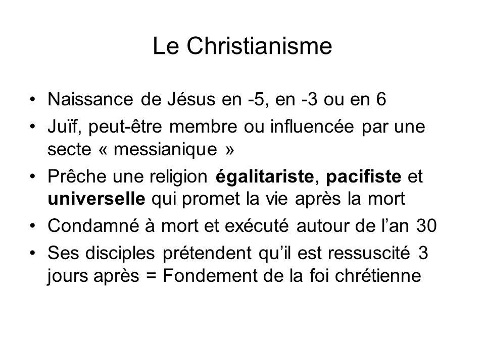 Le Christianisme Naissance de Jésus en -5, en -3 ou en 6