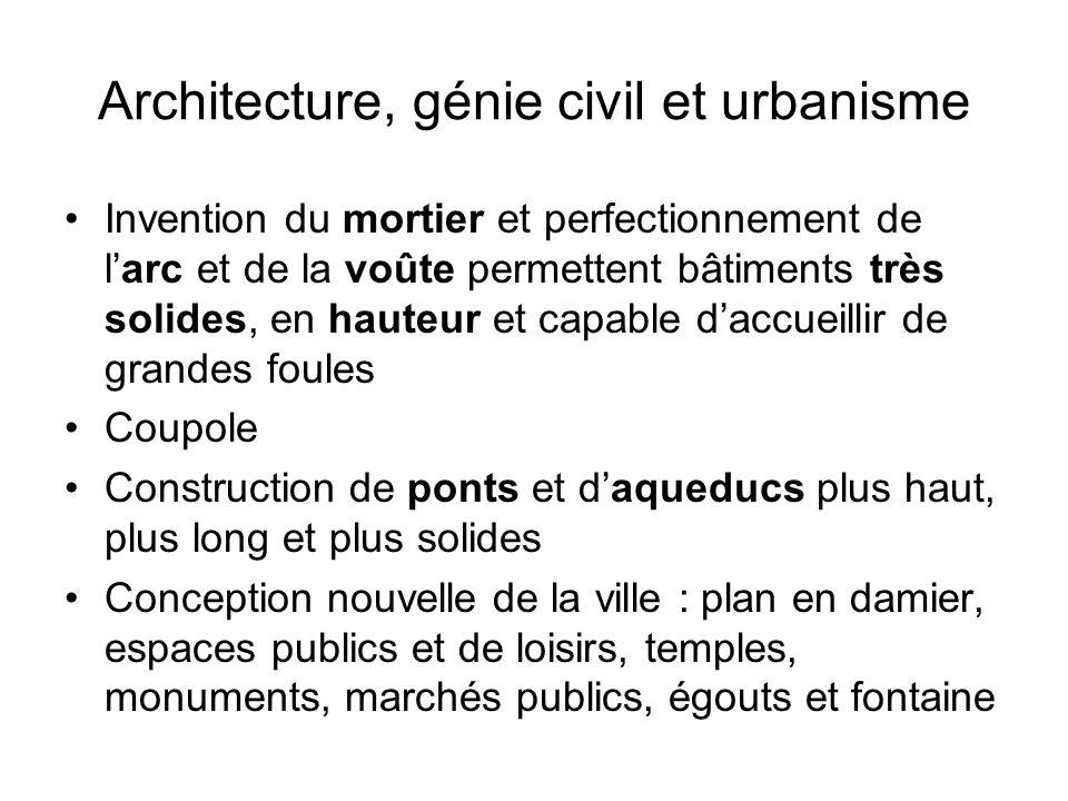 Architecture, génie civil et urbanisme
