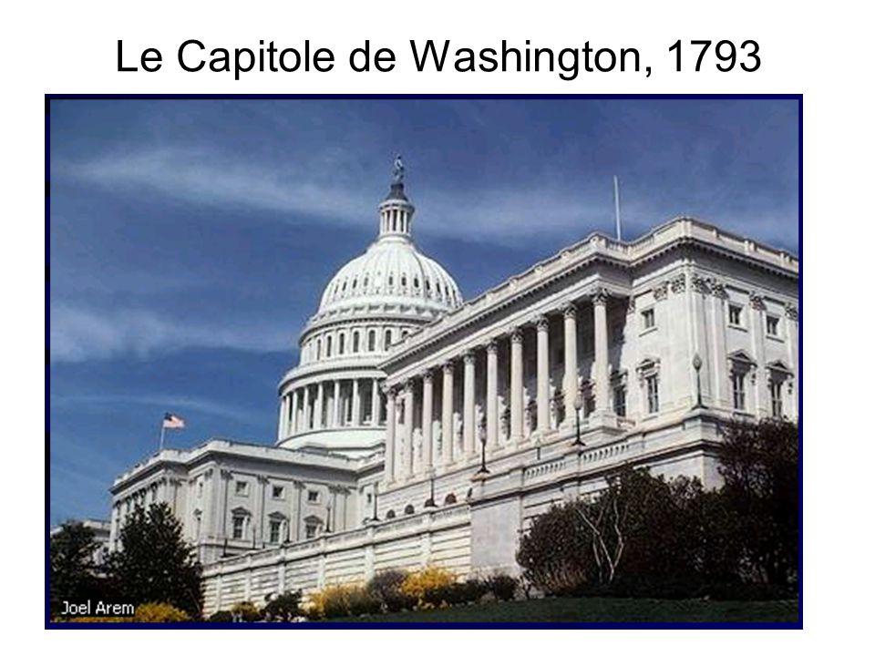 Le Capitole de Washington, 1793