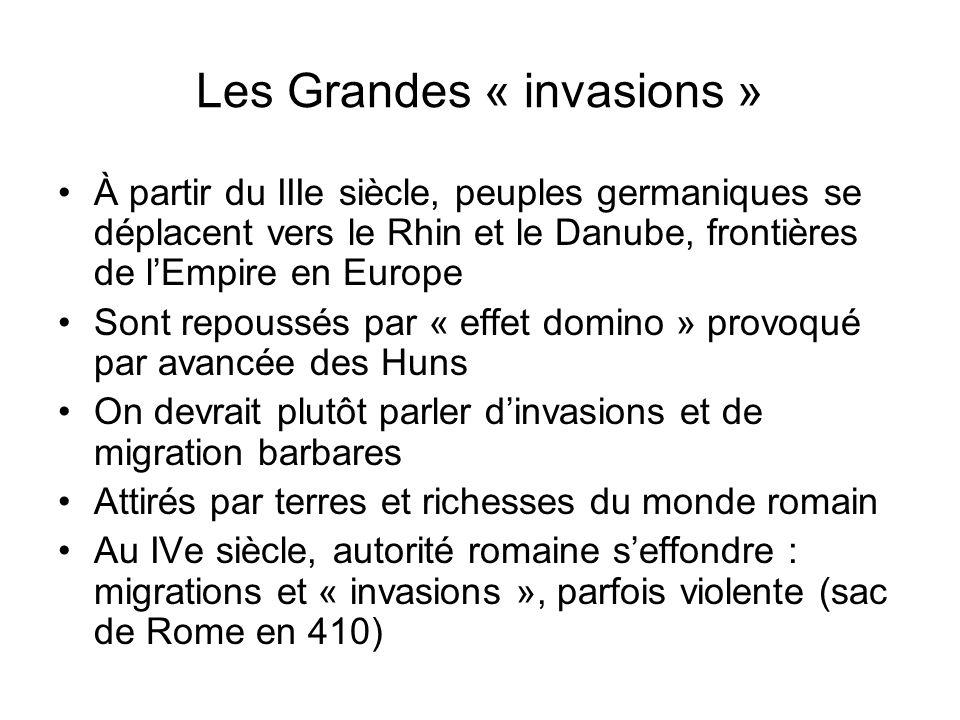 Les Grandes « invasions »