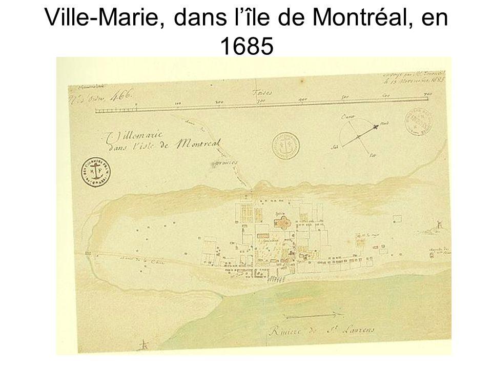 Ville-Marie, dans l'île de Montréal, en 1685