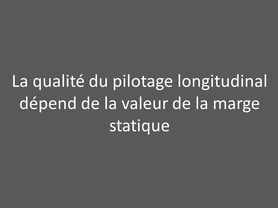 La qualité du pilotage longitudinal dépend de la valeur de la marge statique