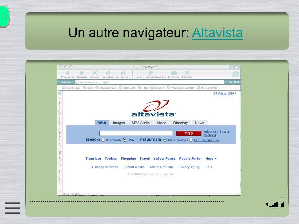 Un autre navigateur: Altavista