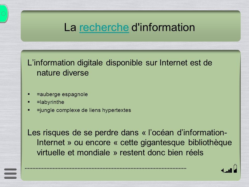 La recherche d information