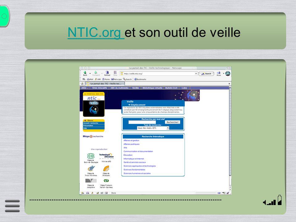 NTIC.org et son outil de veille