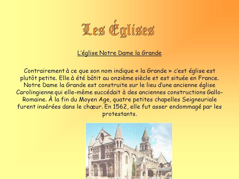 L'église Notre Dame la Grande