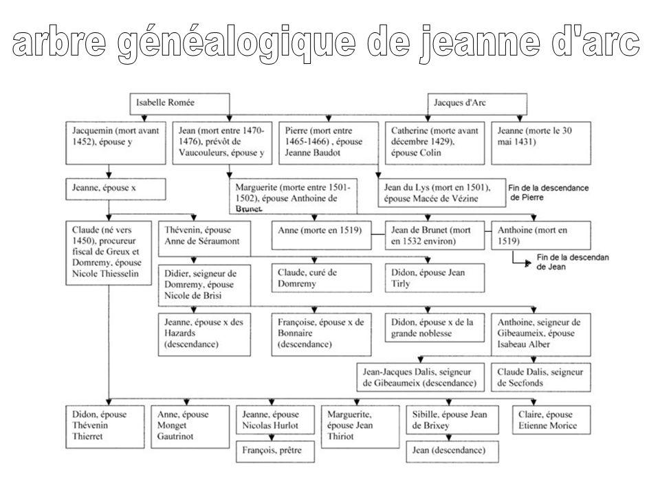 arbre généalogique de jeanne d arc