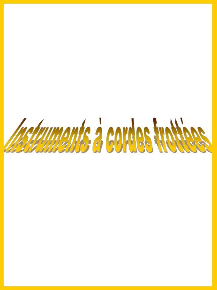 Instruments à cordes frottées