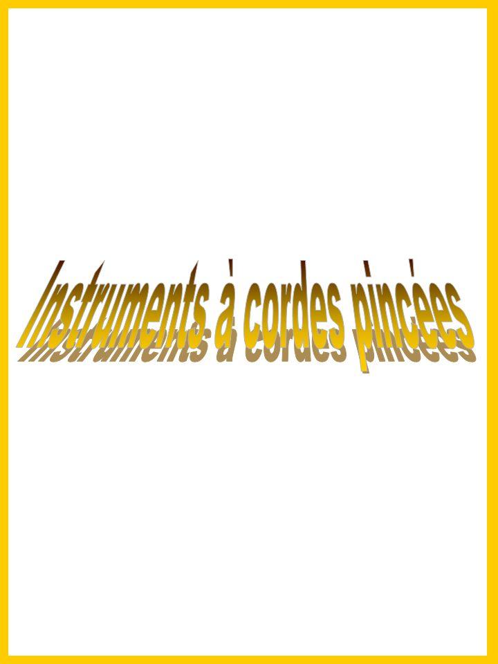 Instruments à cordes pincées