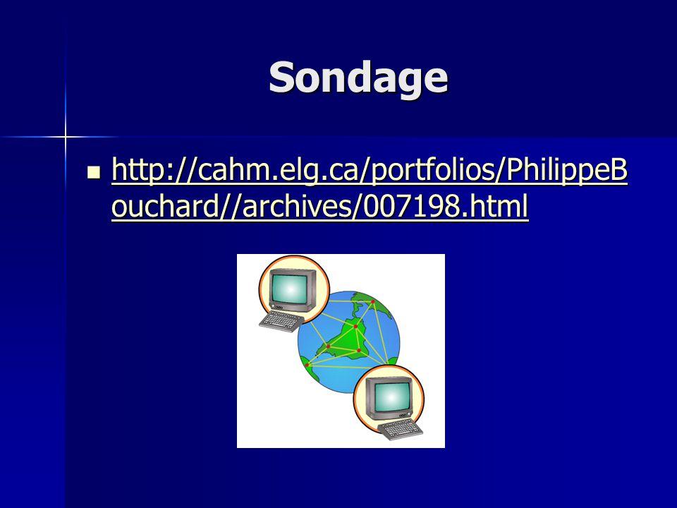 Sondage http://cahm.elg.ca/portfolios/PhilippeBouchard//archives/007198.html