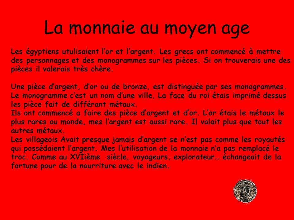 La monnaie au moyen age