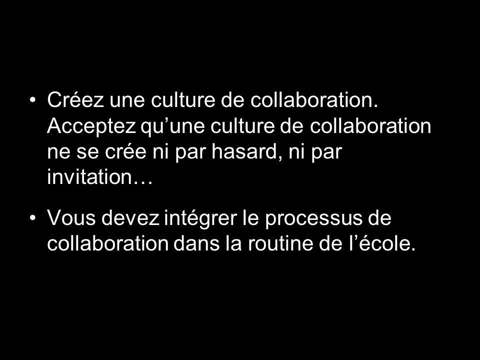 Créez une culture de collaboration