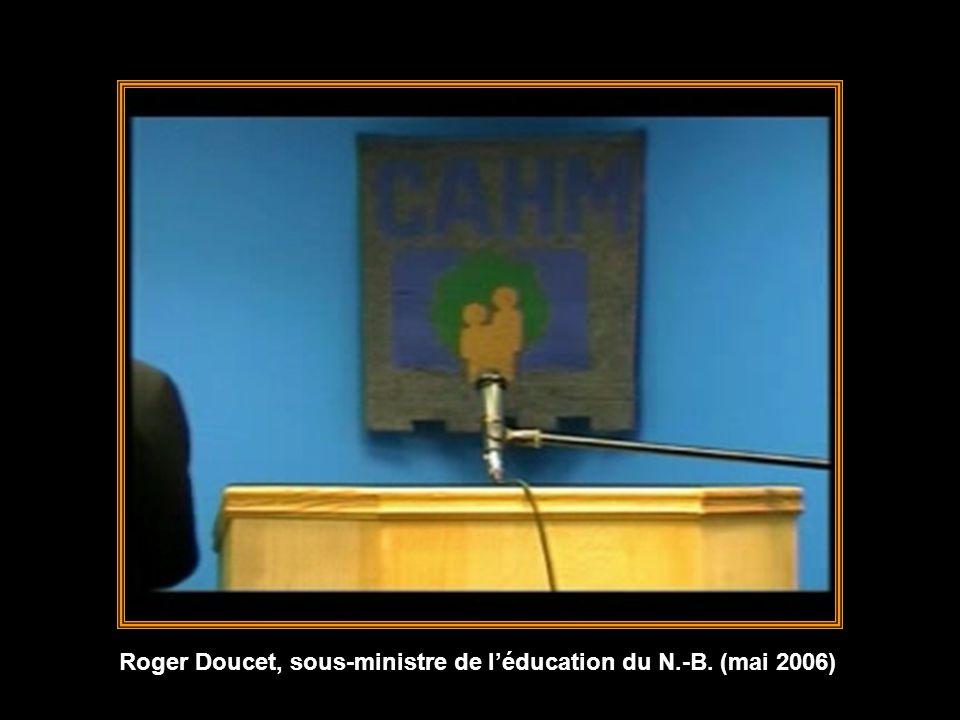 Roger Doucet, sous-ministre de l'éducation du N.-B. (mai 2006)