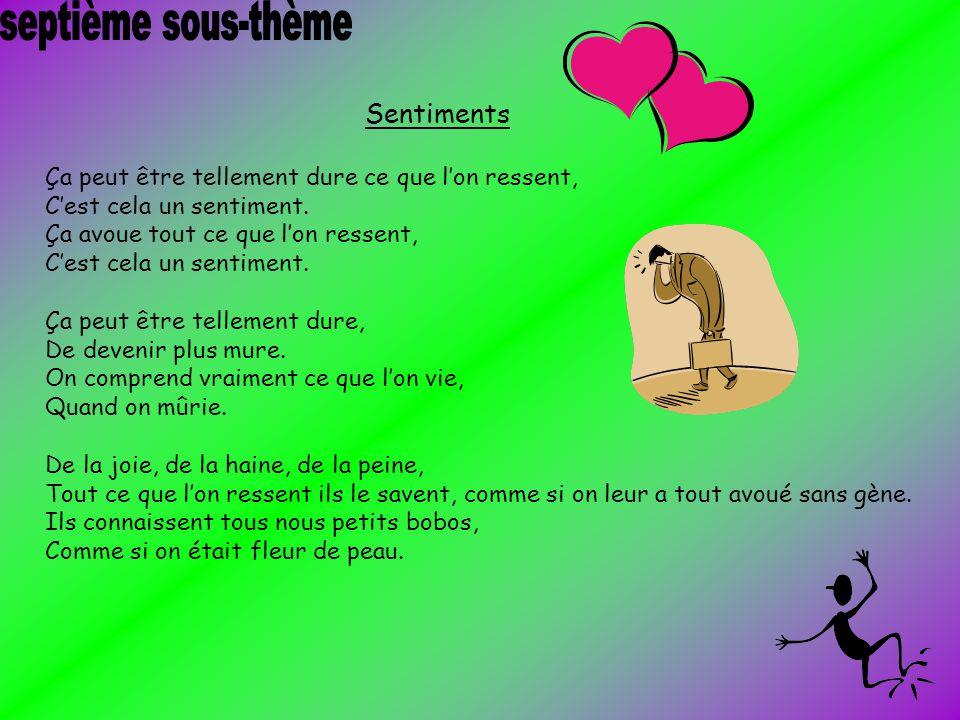 septième sous-thème Sentiments