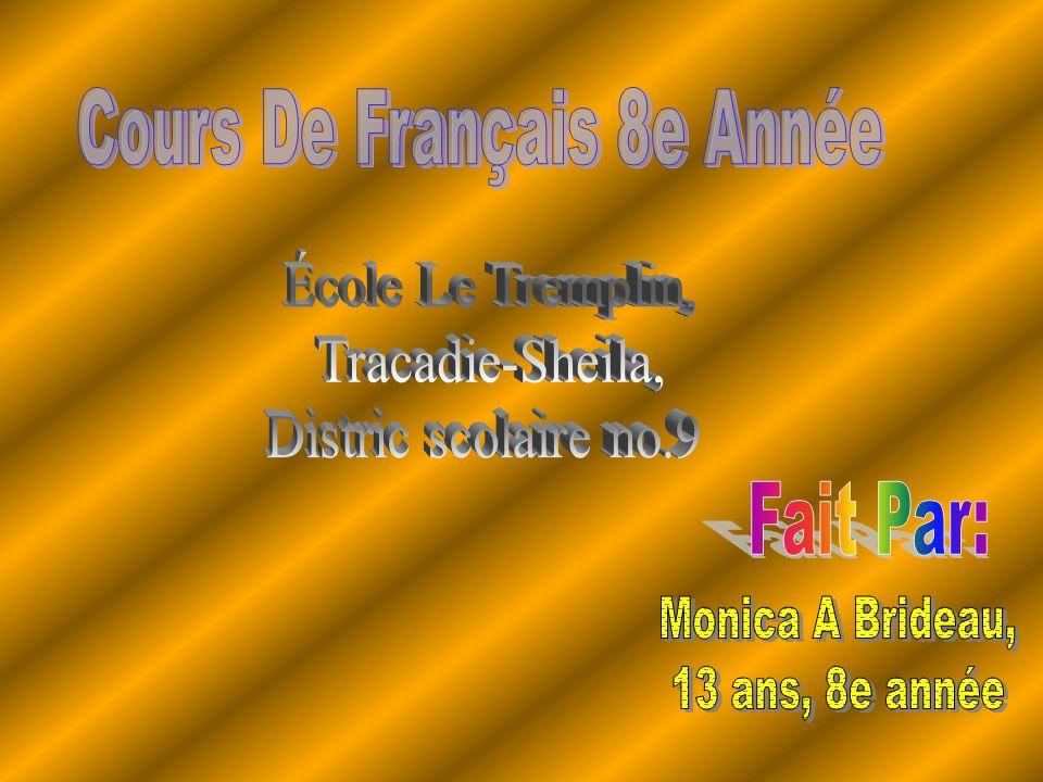 Cours De Français 8e Année