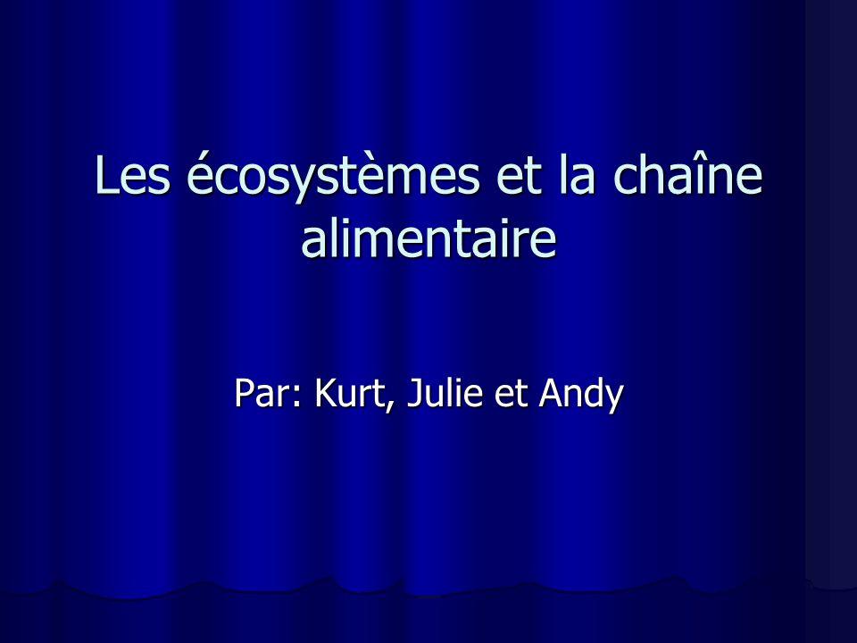 Les écosystèmes et la chaîne alimentaire