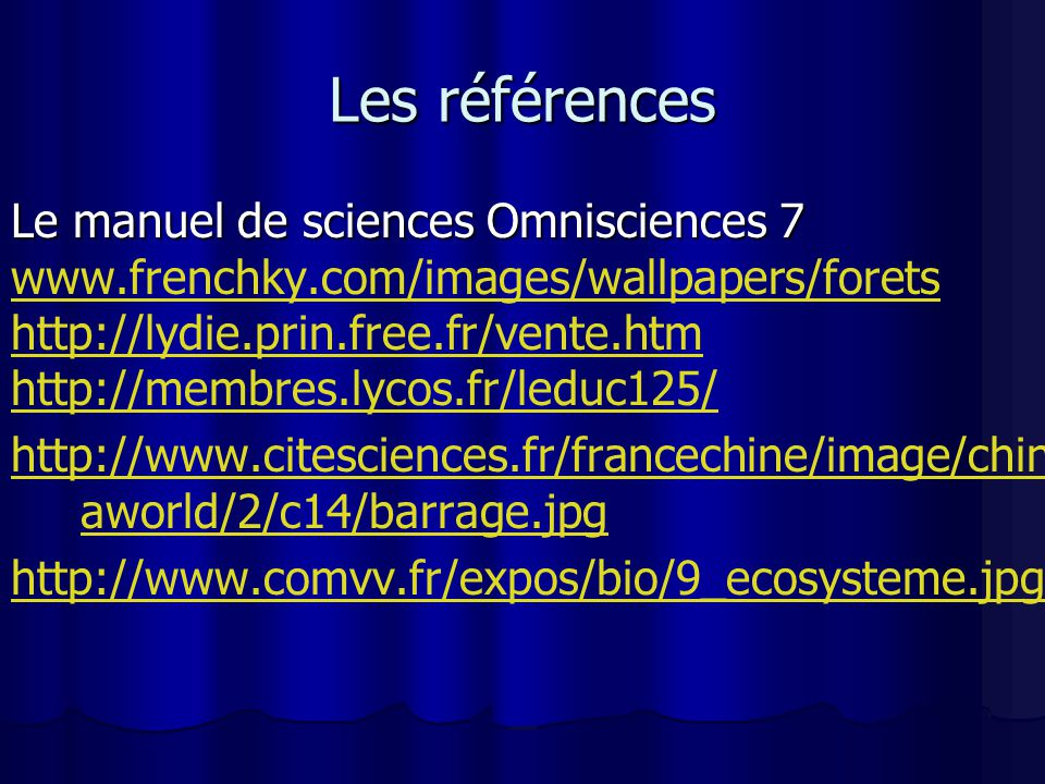 Les références Le manuel de sciences Omnisciences 7