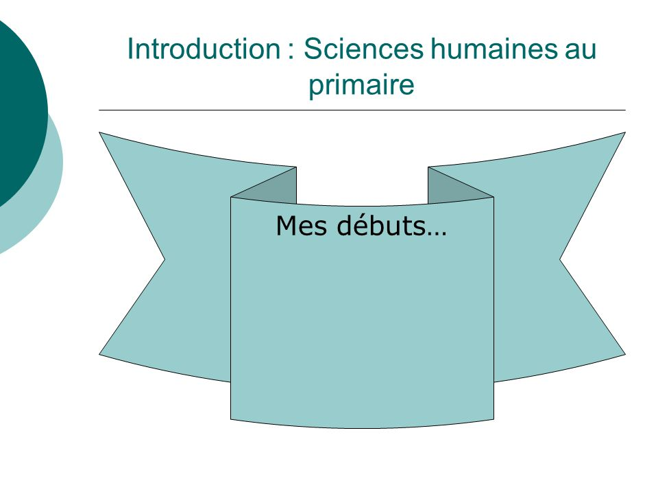 Introduction : Sciences humaines au primaire