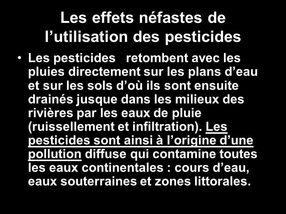 Les effets néfastes de l'utilisation des pesticides