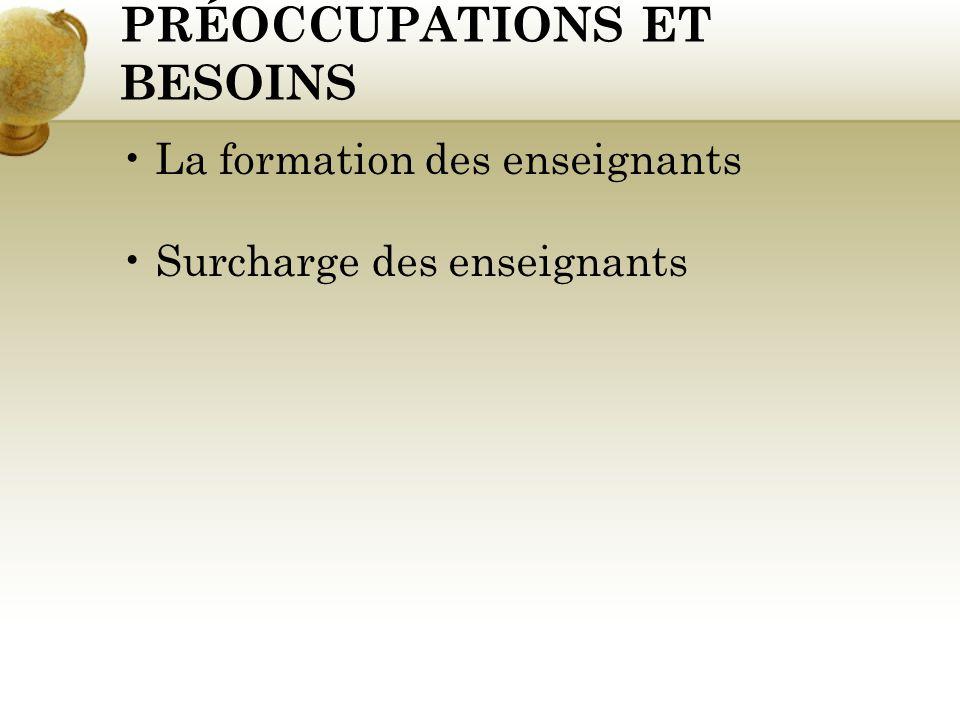 PRÉOCCUPATIONS ET BESOINS