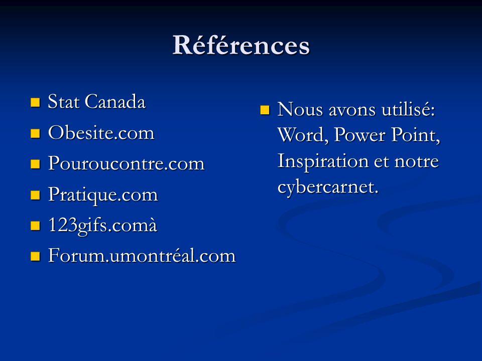 Références Stat Canada