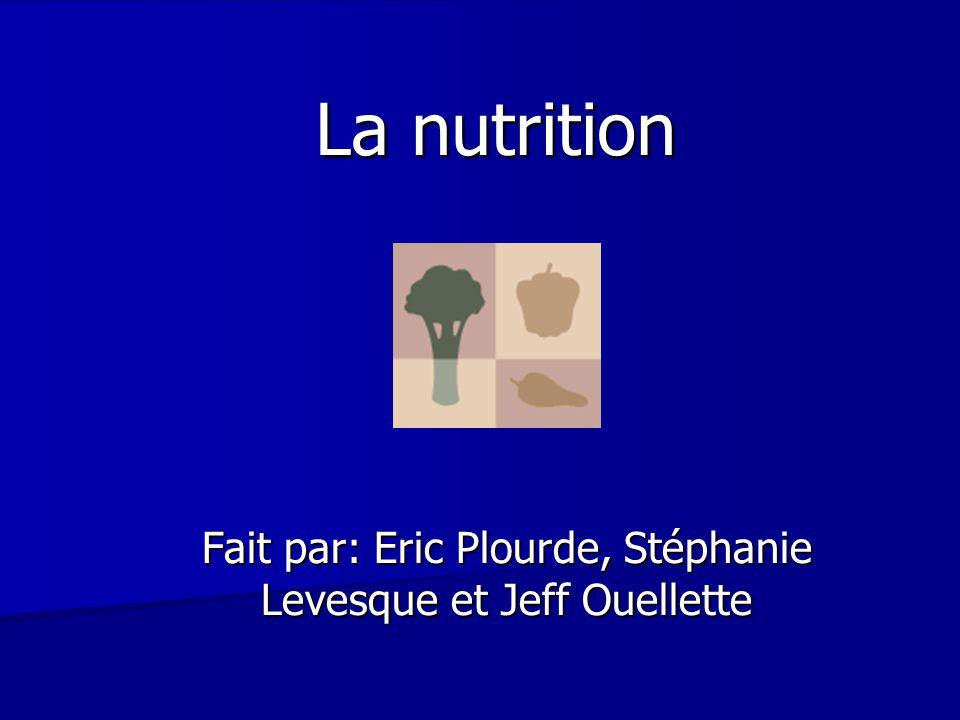Fait par: Eric Plourde, Stéphanie Levesque et Jeff Ouellette