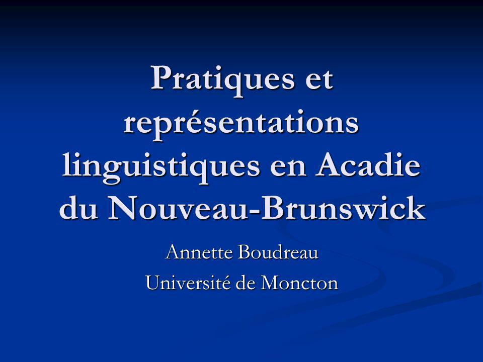 Annette Boudreau Université de Moncton
