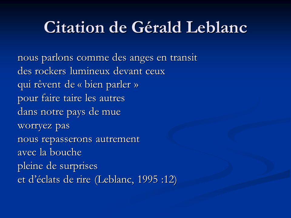 Citation de Gérald Leblanc