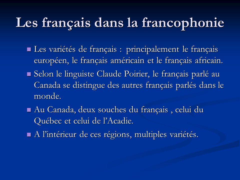 Les français dans la francophonie