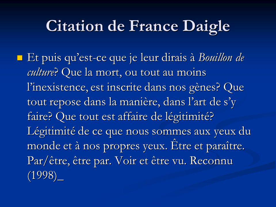 Citation de France Daigle