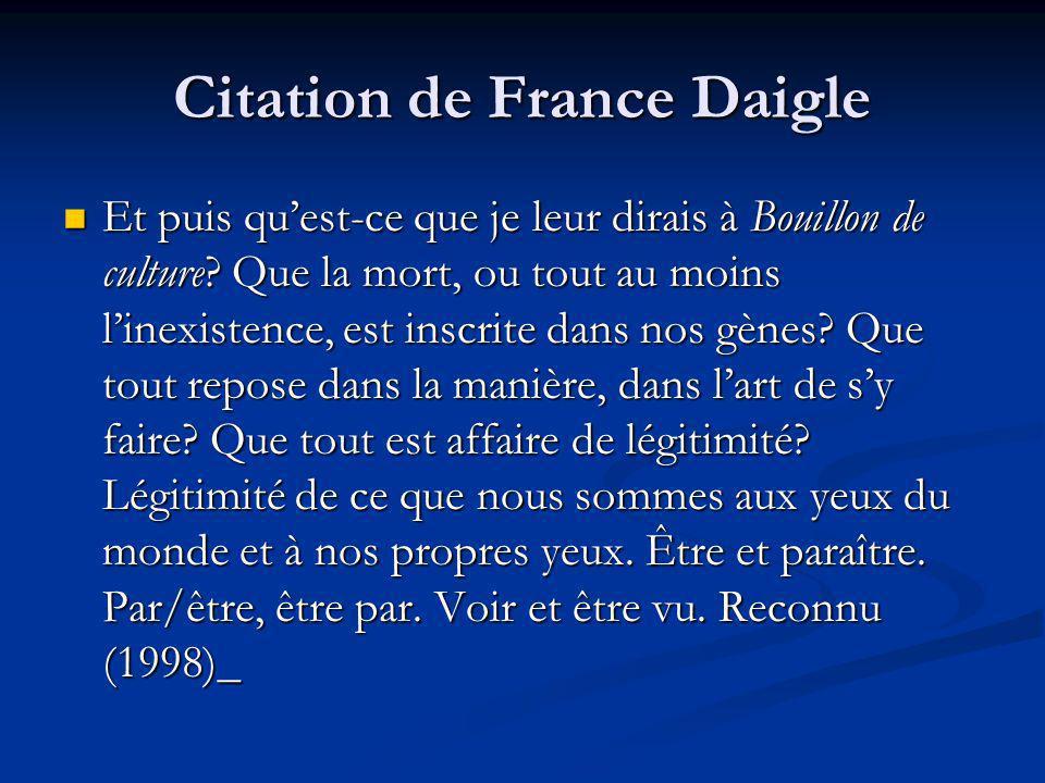 Citation de France Daigle