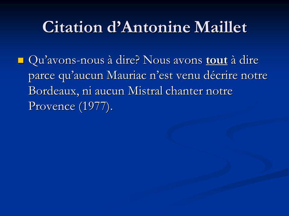 Citation d'Antonine Maillet