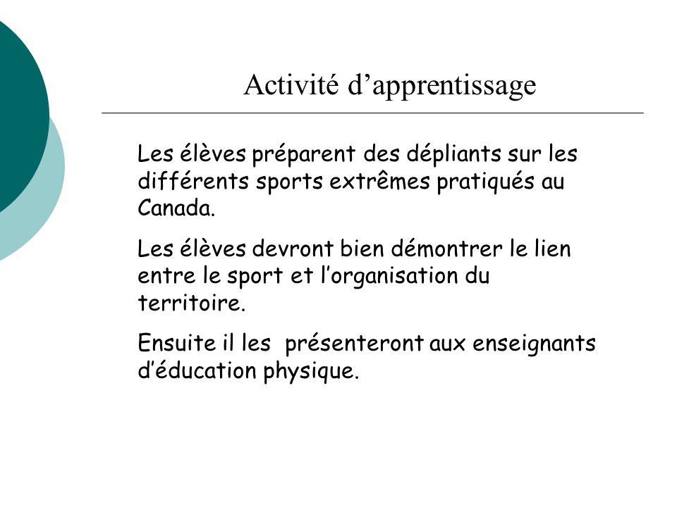 Activité d'apprentissage