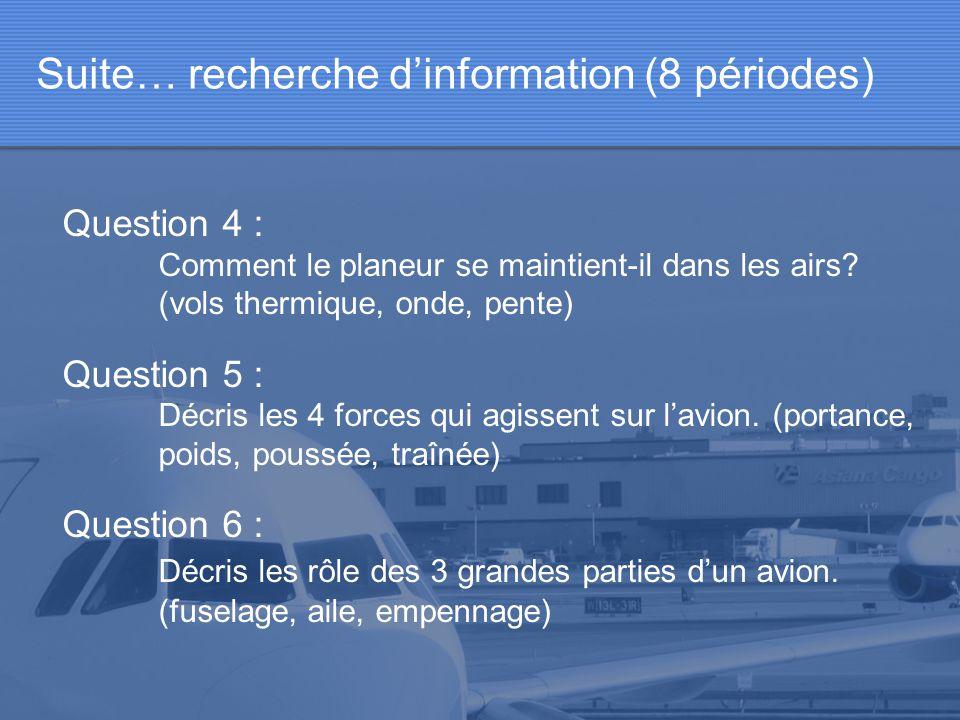Suite… recherche d'information (8 périodes)