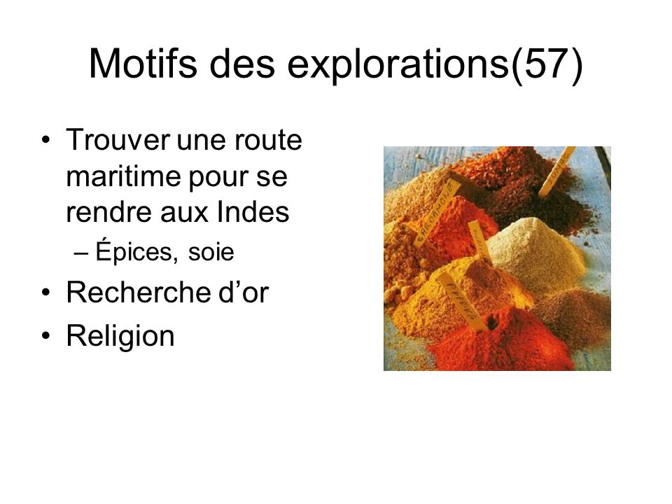Motifs des explorations(57)